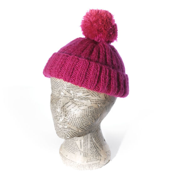 Picture of Knitted Pom Pom Beanie Hat