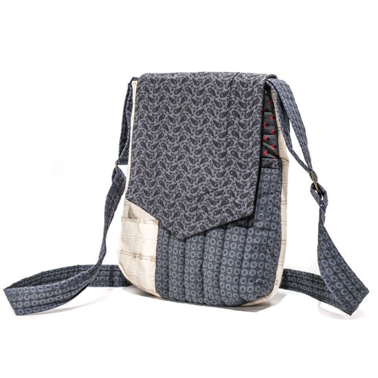 Picture of Messenger Bag - Blue Paisley