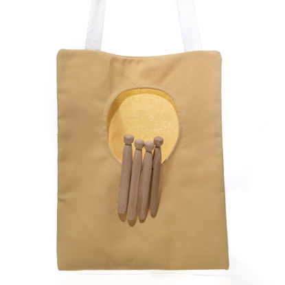 Picture of Banana Yellow Cross Body Peg Bag (SOLD)