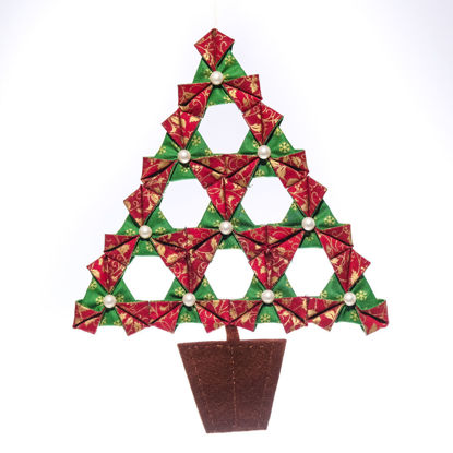 Picture of Origami Inspired Fabric Christmas Decoration