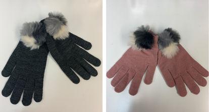Picture of Ladies Pom Pom Gloves