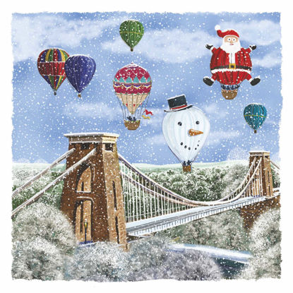 Picture of Balloons over the Suspension Bridge