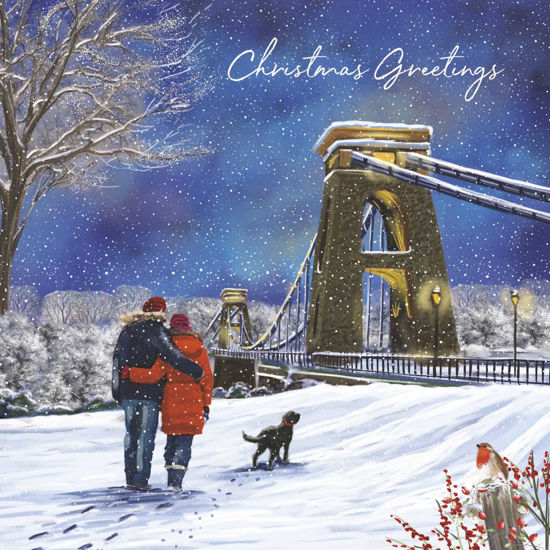 Picture of Winter Walk over the Suspension Bridge