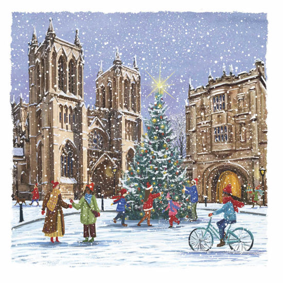 Picture of Christmas Time at Bristol Cathedral / Christmas Tree on College Green