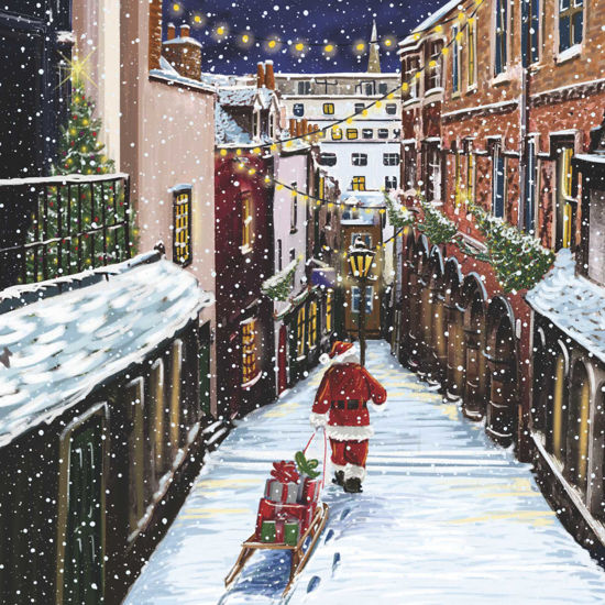 Picture of Delivering Presents at Christmas Steps