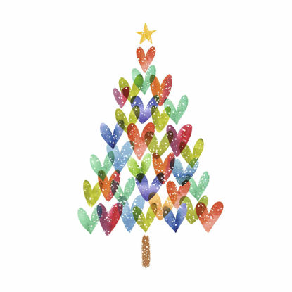 Picture of Christmas Tree of Hearts
