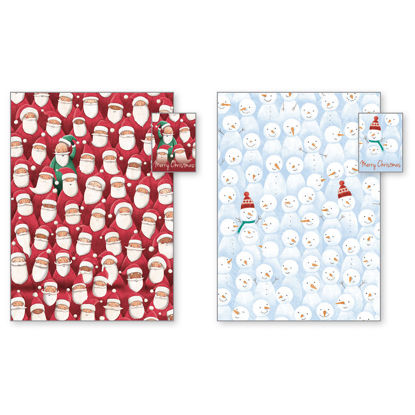 Picture of Santa & Snowman  Gift Wrap