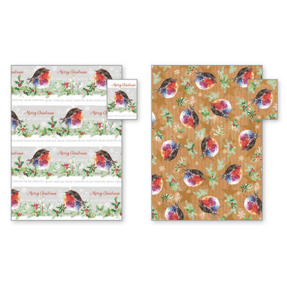 Picture of Fluffy Robin Gift Wrap